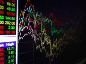 Charts of Financial Instruments — Stock Photo