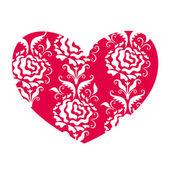 Heart in retro style vector — Stock Vector