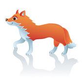 Vector cute fox — Stock Vector