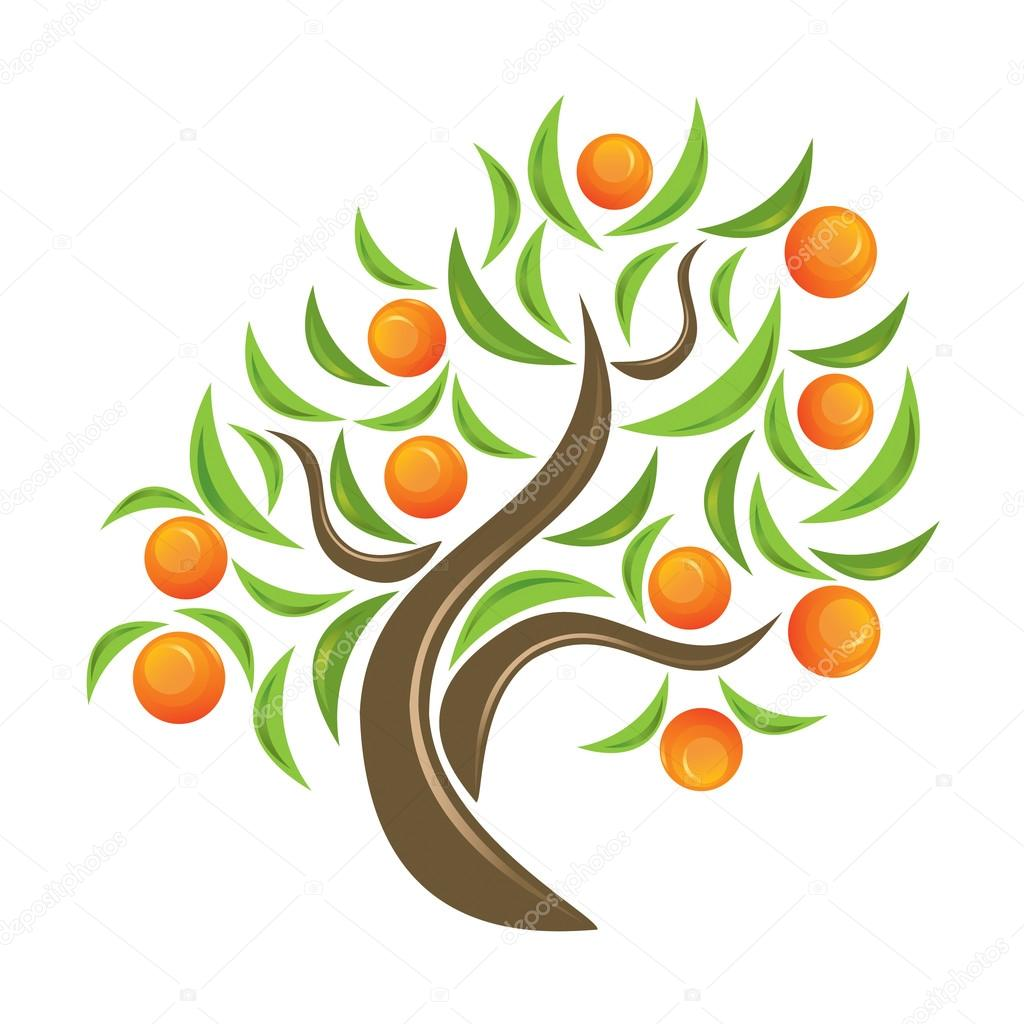 image gallery orange tree logo