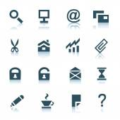 Gray internet icons, part 1 — Stock Vector