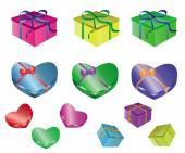 набор подарков — Cтоковый вектор
