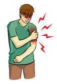 Arm pain — Stock Vector
