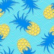 Постер, плакат: Pineapples Seamless geometric pattern