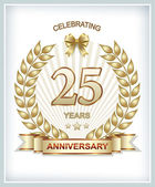 Anniversary card 25 years — Stock Vector