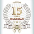 Anniversary card 15 years — Stockvector  #69934751