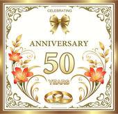 Anniversary card 50 years — Stock Vector