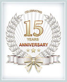 Anniversary card 15 years — Stock Vector