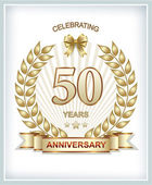 Anniversary card 50 years — Stock Vector