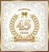 Anniversary card 45 years — 图库矢量图片