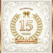 Anniversary card for 15 years — Stock Vector #72136331