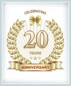 Anniversary card for 20 years — Stock Vector