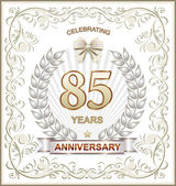 Anniversary card for 85 years — Stock Vector