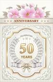 Anniversary card for 50 years — Stock Vector