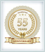 Anniversary card for 55 years — Stock Vector