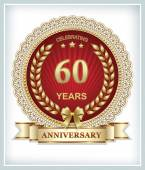 Anniversary card for 60 years — Stock Vector