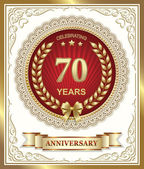 Anniversary card for 70 years — Stock Vector