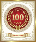 Anniversary card for 100 years — Stock Vector