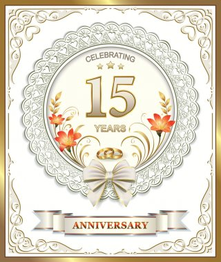Anniversary card for 15 years