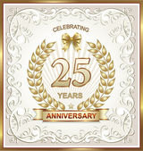 Anniversary card background — Stock Vector