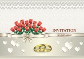 Invitation card for wedding — Stock Vector