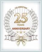 Happy birthday 25 years — Stock Vector