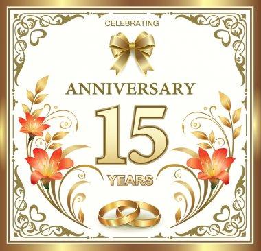 15 years wedding anniversary