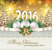 Frohes neues Jahr und frohe Weihnachten — Stockvektor