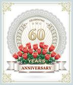 60th anniversary — Stock Vector
