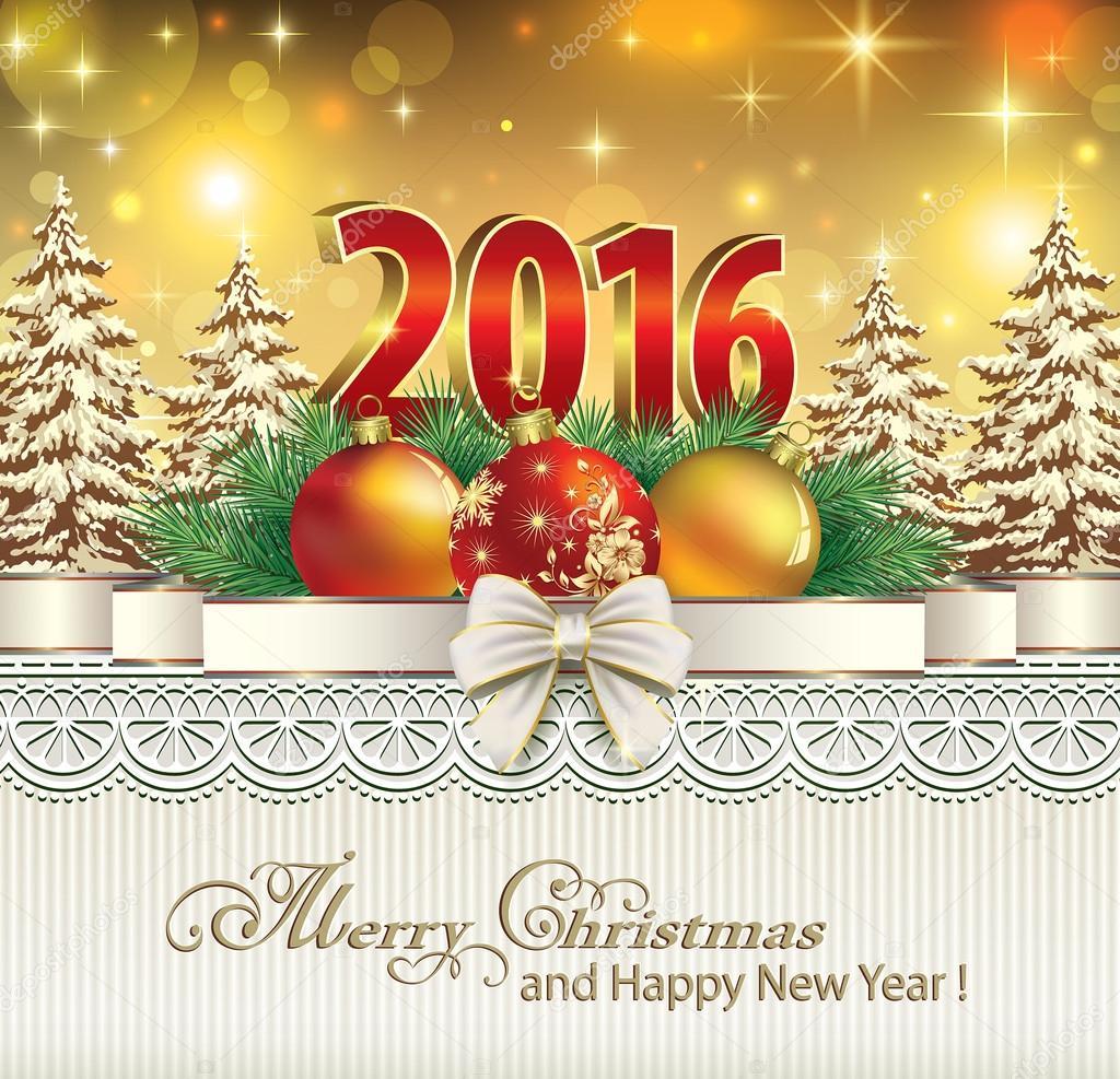 Merry christmas and happy new year 2016 stock vector 169 seriga
