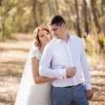 Honeymoon of just married wedding couple — Stock Photo #66412697