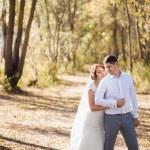 Honeymoon of just married wedding couple — Stock Photo #66412703