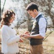 ������, ������: Marriage proposal Outdoors wedding ceremony