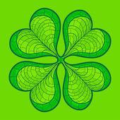 Decorative lucky clover leaf — Stock Vector