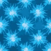 Scratchy blue blot seamless pattern — Stock Vector