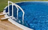 Above Ground Pool and Ladder — Stock Photo
