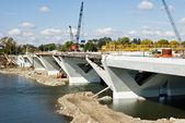 Bridge in Progress — Stock Photo