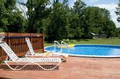 Country Pool and Deck — Stockfoto