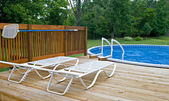 Pool Side Deck — Stock Photo