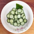 Bowl of Fresh Sliced Cucumbers — Stock Photo #67635671