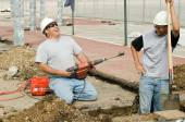 Construction Workers Laughing — Stock Photo