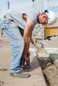 Electrician Using Drill — Stock Photo