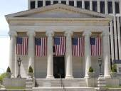 Old Court House with Flags — Stockfoto