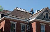 Roof Repair on Historic House — Stock Photo