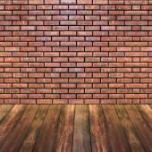 Brick and wood texture background — Stock fotografie