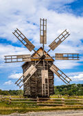 Old wooden windmill. — Stock Photo