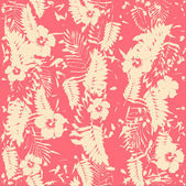 Hibiscus flowers seamless pattern. — Stock Vector