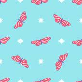 Pattern with flying butterflies — Stock Vector
