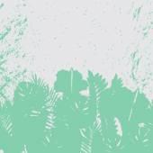 Eco design floral border. — Stock Vector