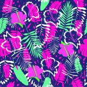 Tropical palm leafves pattern — Stock Vector